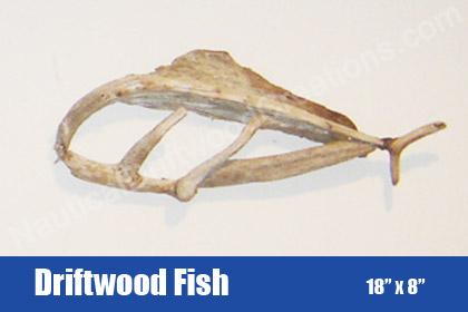 Driftwood Fish Hanging Wall Art Scupture