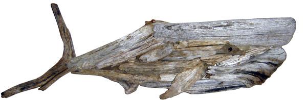 Driftwood Whale Hanging Wall Art 42x14